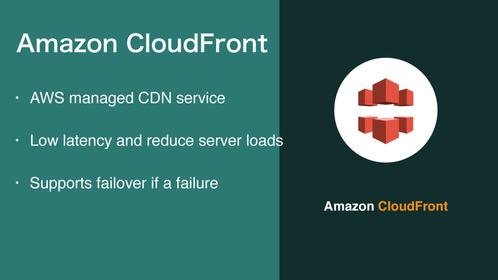 Amazon CloudFront • AWS managed CDN service • L...