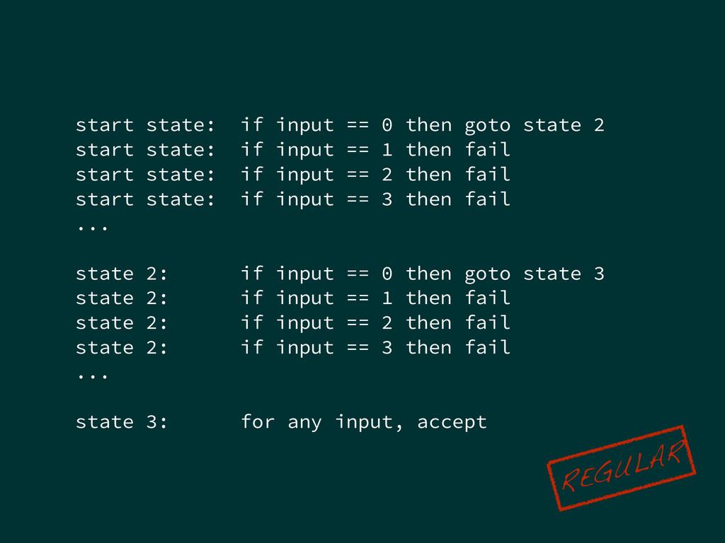 start state: if input == 0 then goto state 2 st...