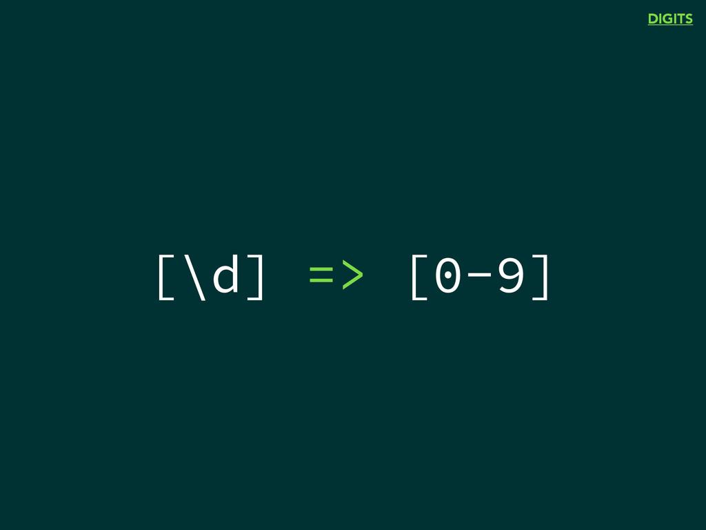 [\d] => [0-9] DIGITS
