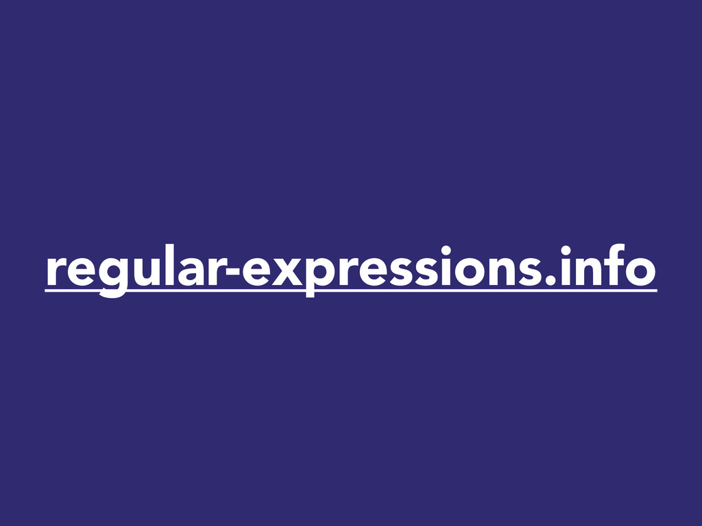 regular-expressions.info