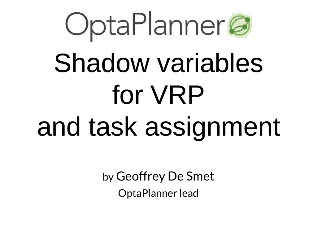 Shadow variables Shadow variables for VRP for V...
