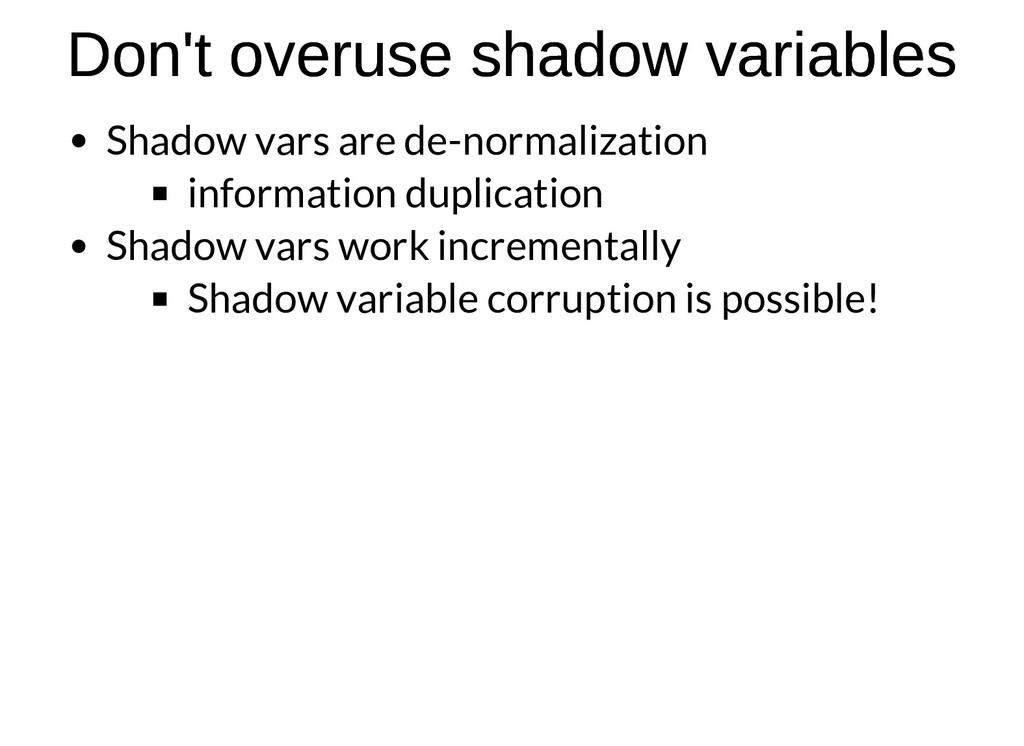 Don't overuse shadow variables Don't overuse sh...