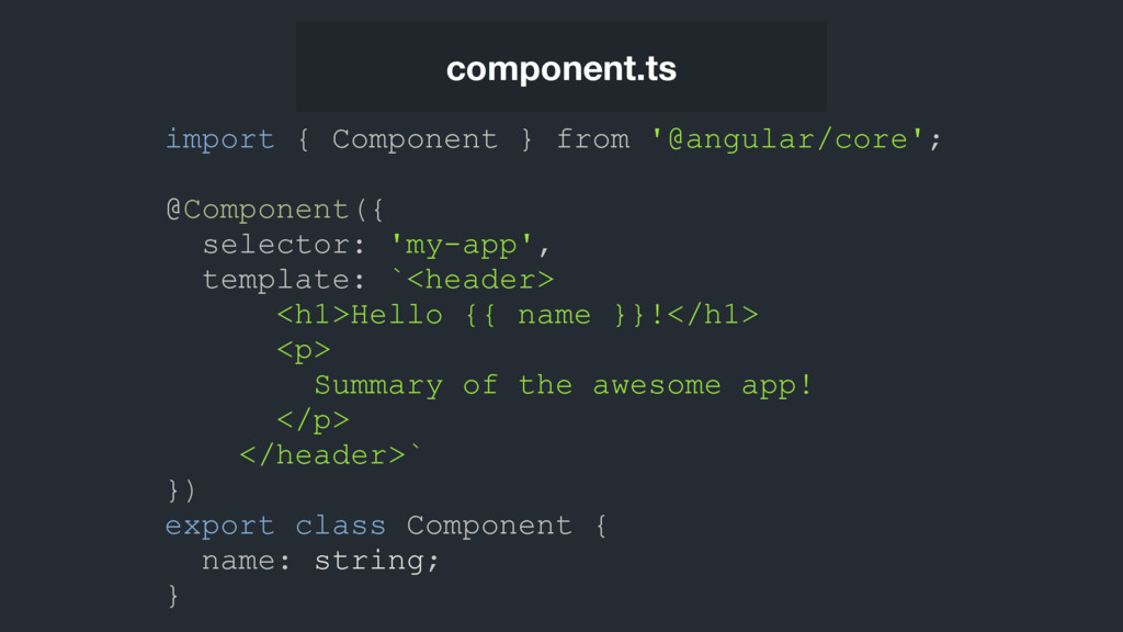 component.ts import { Component } from '@angula...