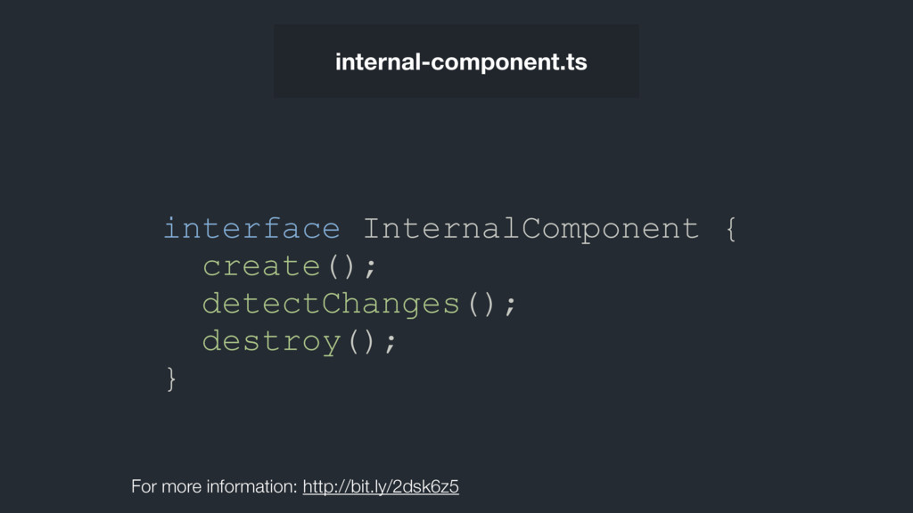 interface InternalComponent { create(); detectC...