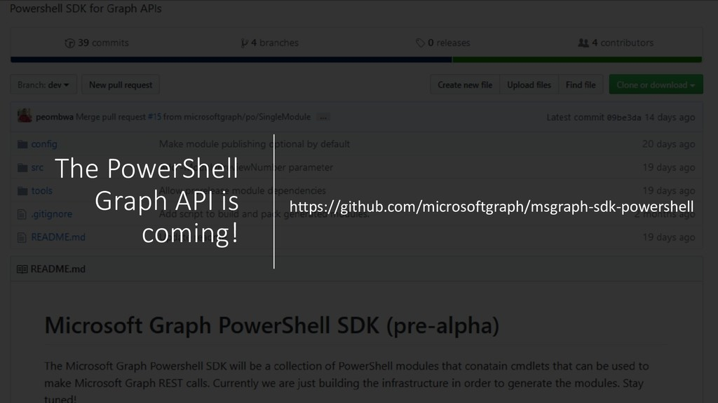 The PowerShell Graph API is coming! https://git...