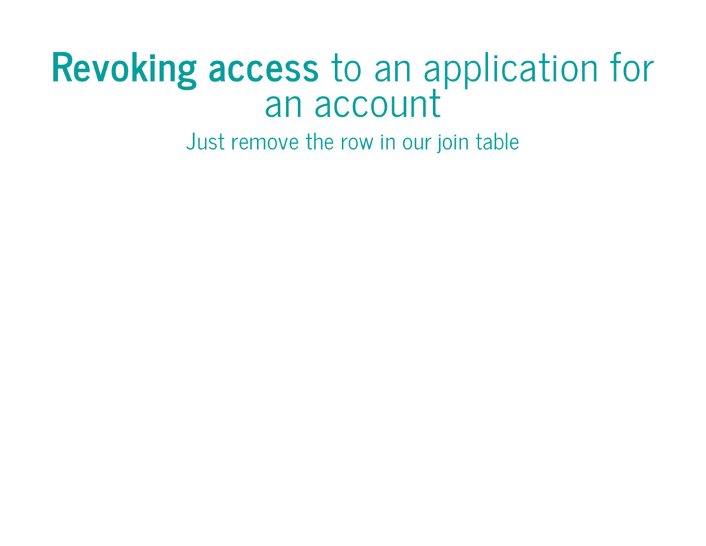 Revoking access to an application for an accoun...
