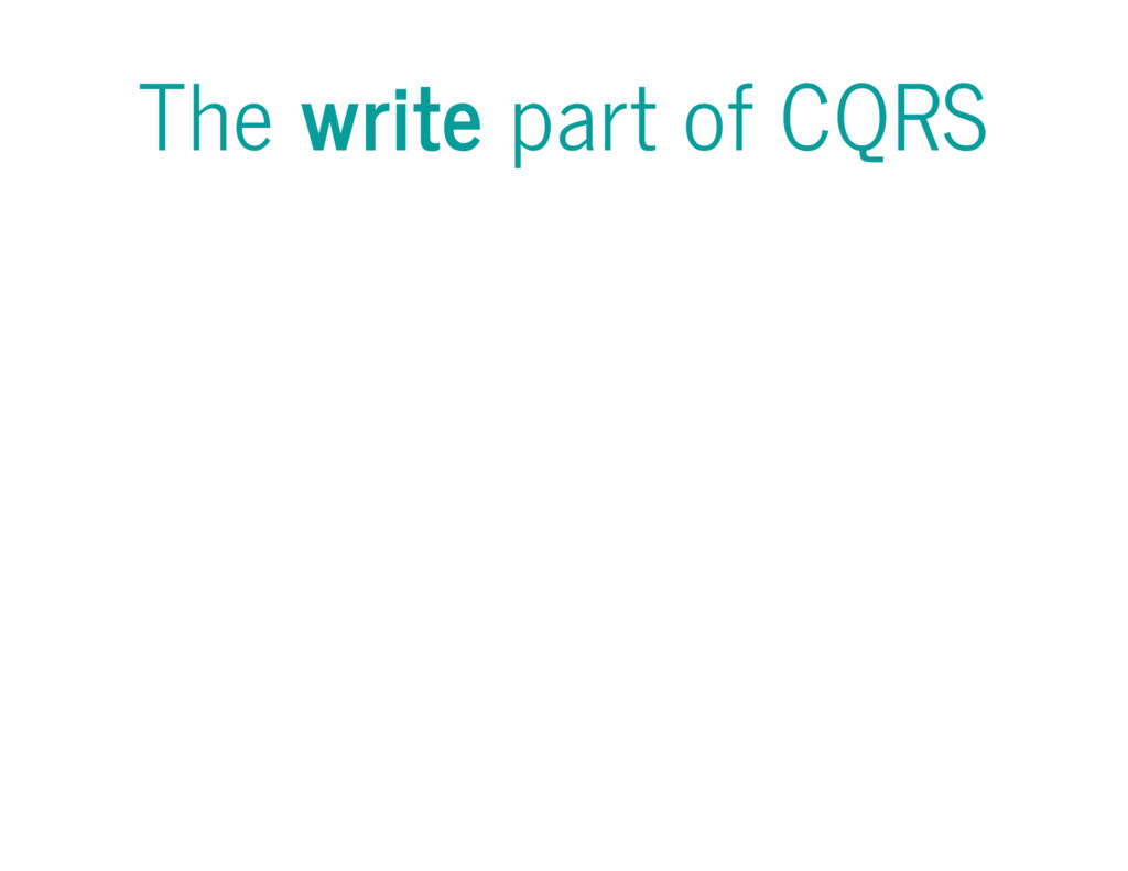 The write part of CQRS