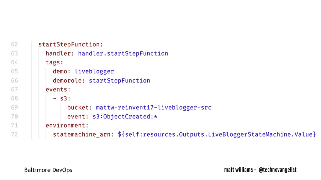 matt williams - @technovangelist Baltimore DevO...