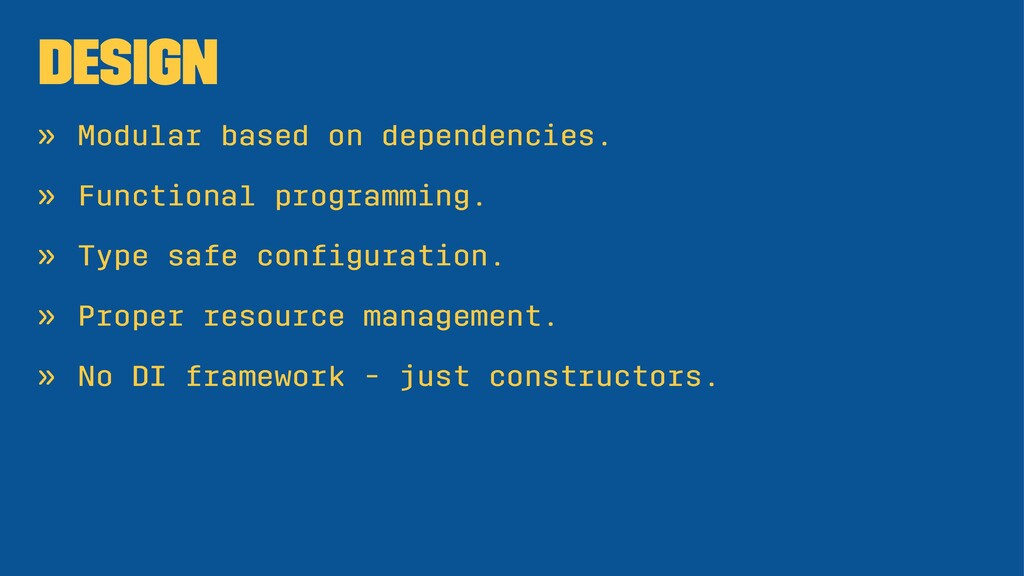 Design » Modular based on dependencies. » Funct...