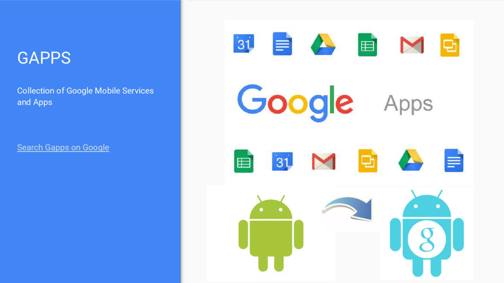 GAPPS Collection of Google Mobile Services and ...