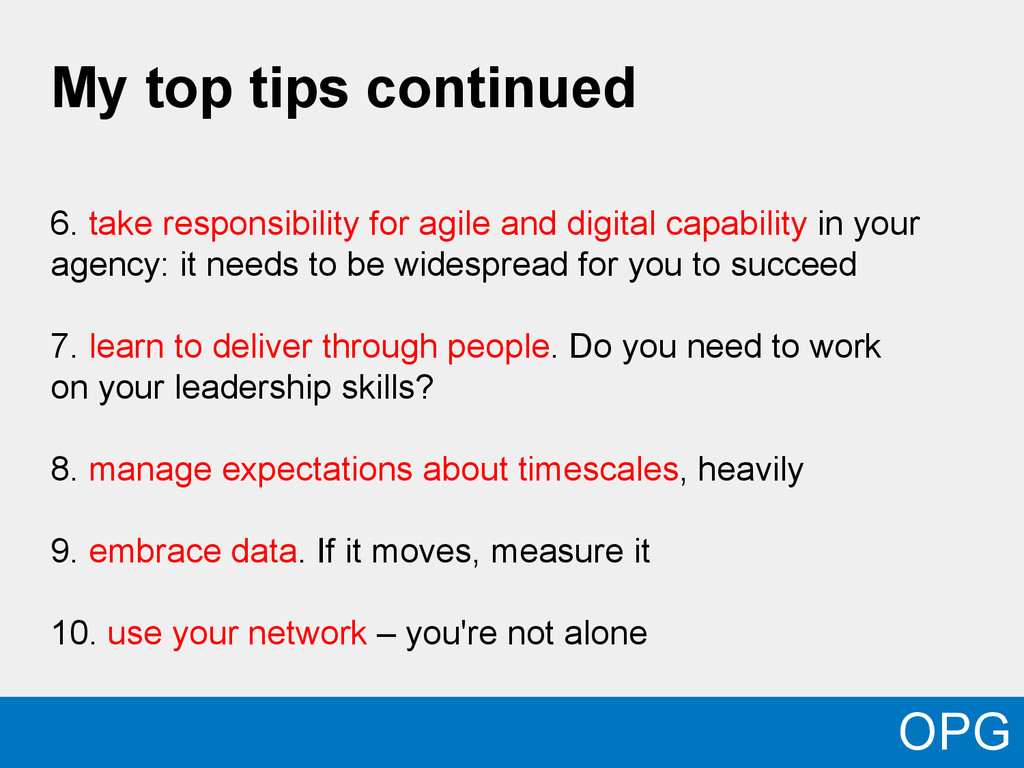 My top tips continued 6. take responsibility fo...