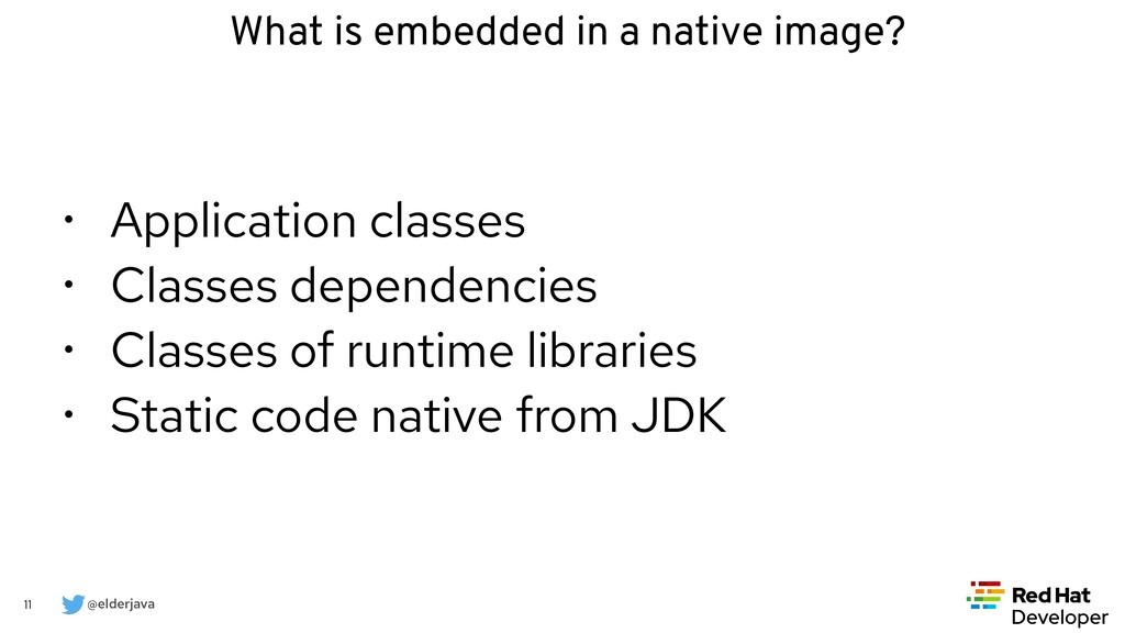 @elderjava 11 What is embedded in a native imag...