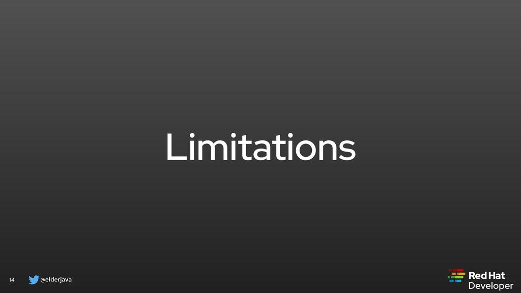 @elderjava 14 Limitations