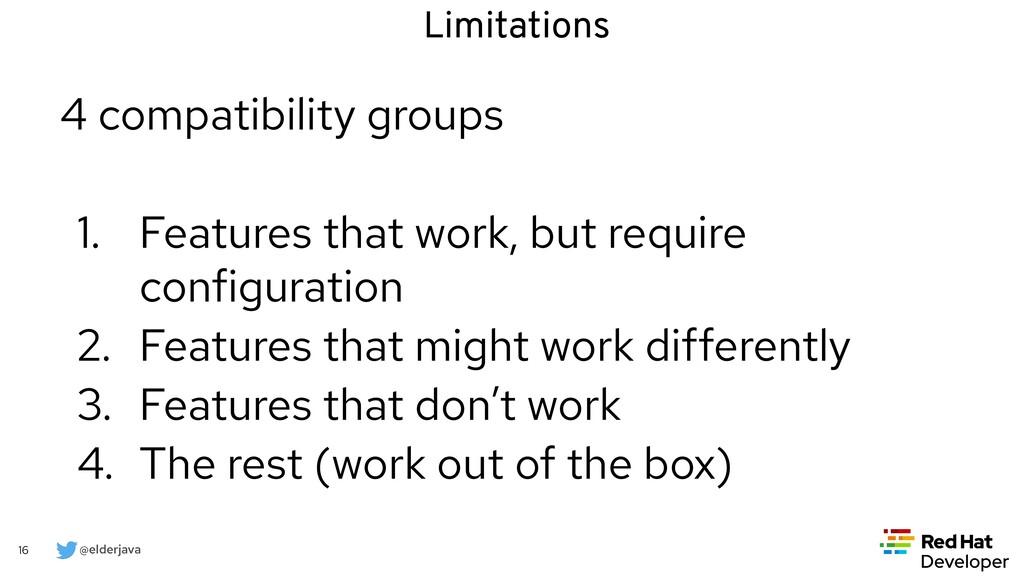 @elderjava 16 4 compatibility groups   1. Featu...