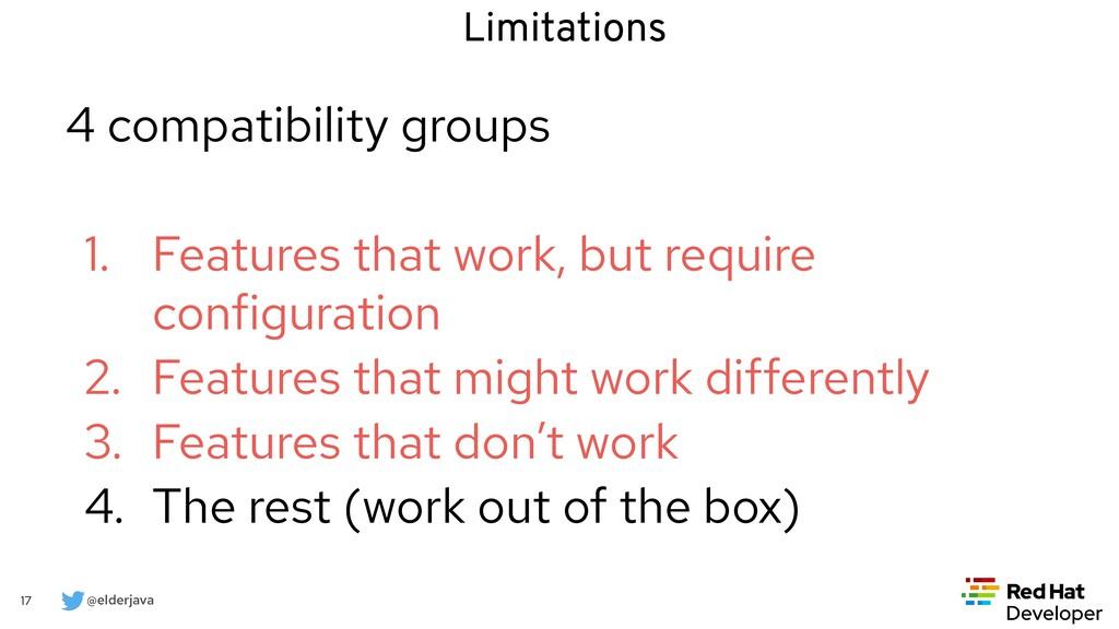 @elderjava 17 4 compatibility groups   1. Featu...
