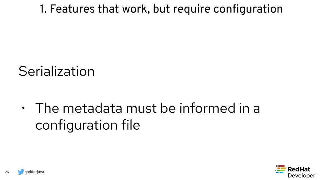 @elderjava 26 Serialization   • The metadata mu...