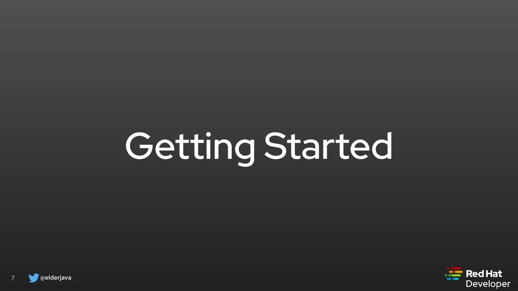 @elderjava 7 Getting Started