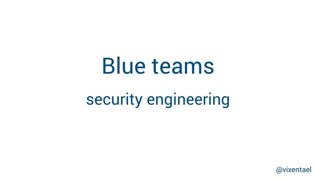 Blue teams security engineering @vixentael