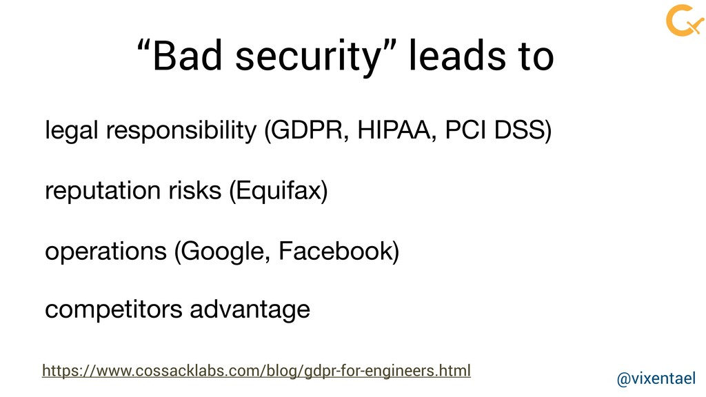 """Bad security"" leads to reputation risks (Equif..."
