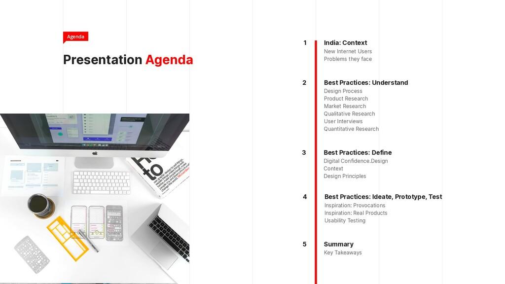 Presentation Agenda Agenda India: Context  New...