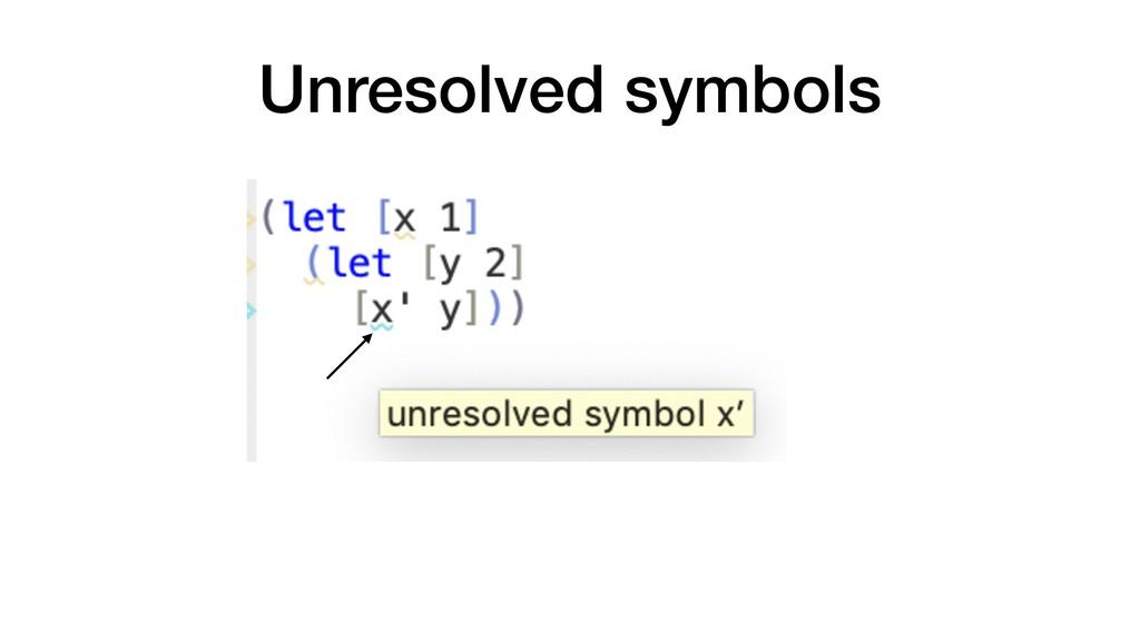 Unresolved symbols