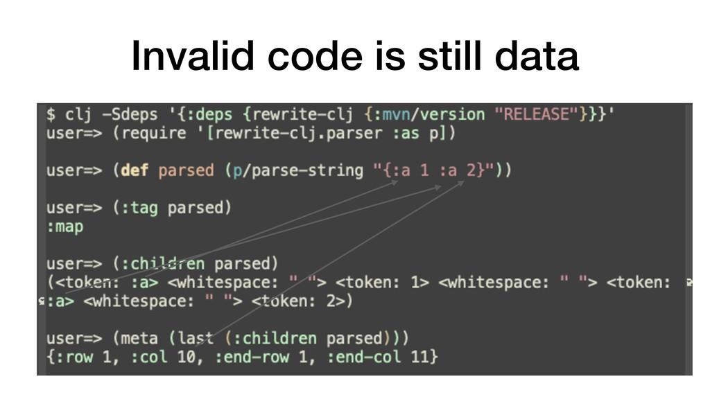 Invalid code is still data