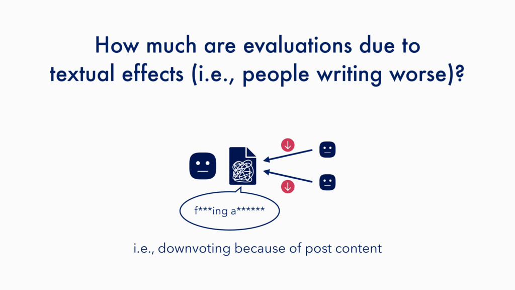 How much are evaluations due to textual effects...