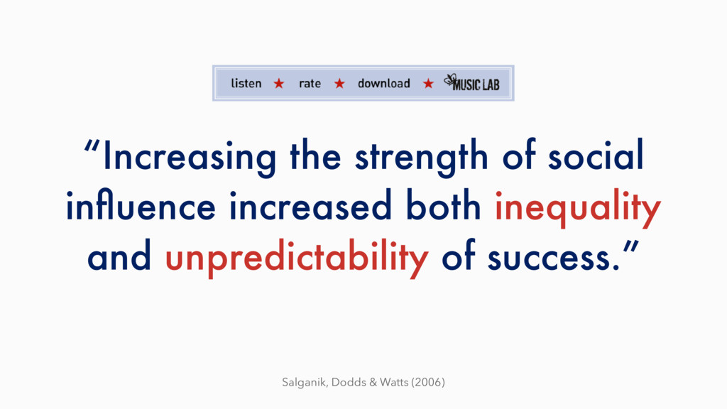 """Increasing the strength of social influence inc..."