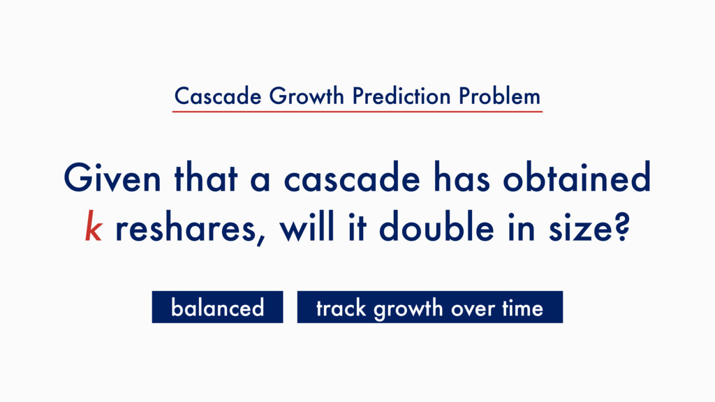 Given that a cascade has obtained k reshares, w...