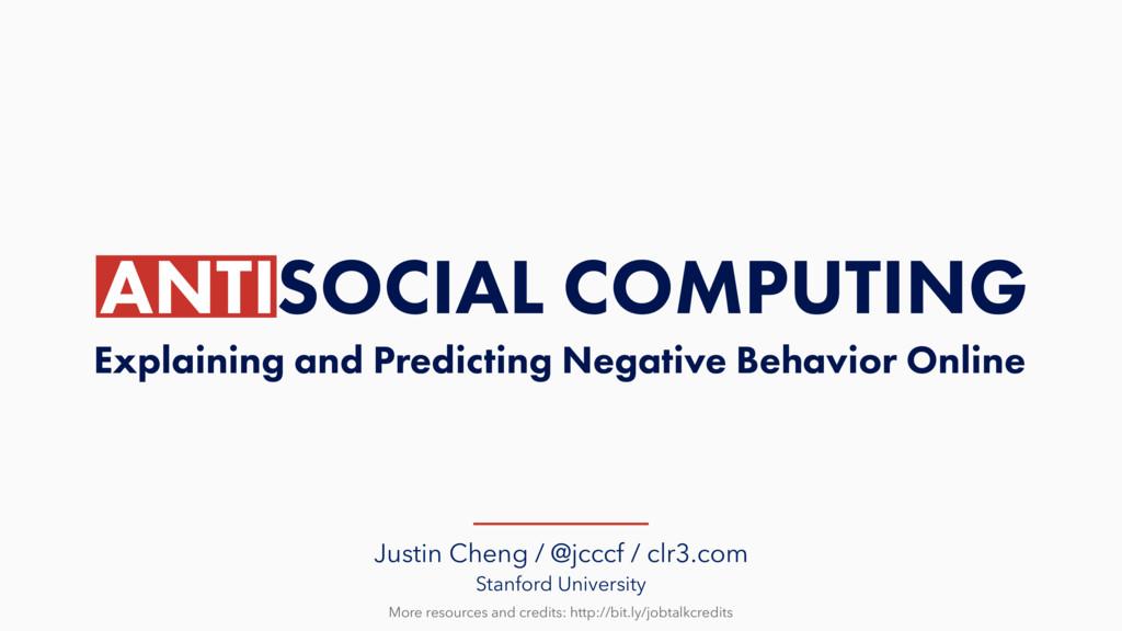 Justin Cheng / @jcccf / clr3.com Stanford Unive...