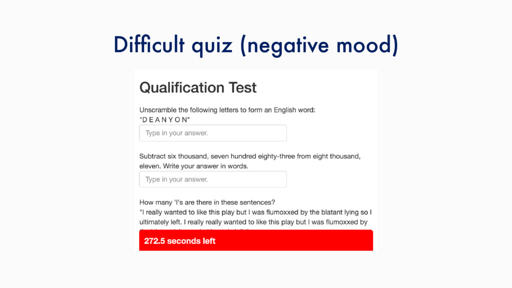 Difficult quiz (negative mood)