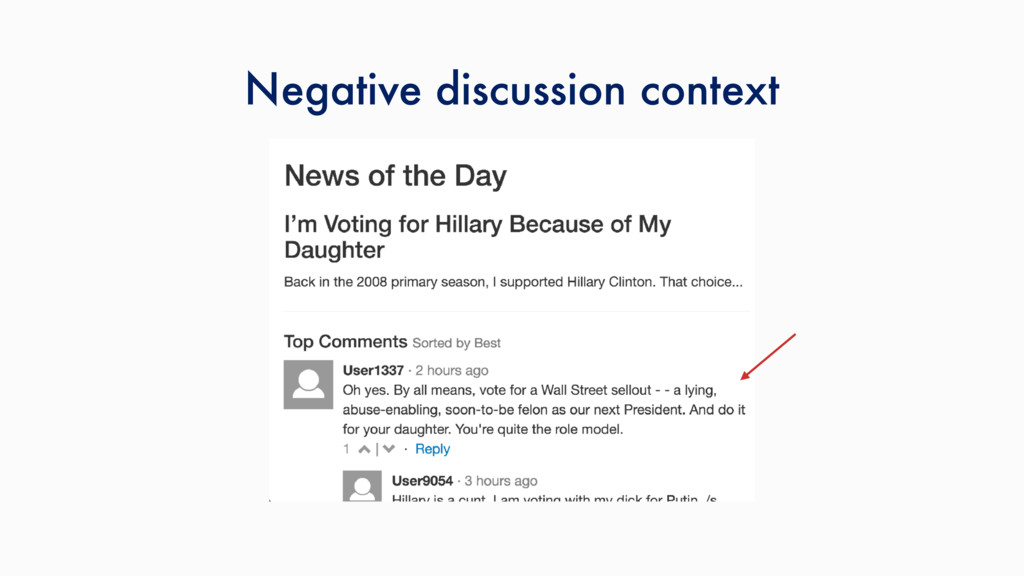 Negative discussion context