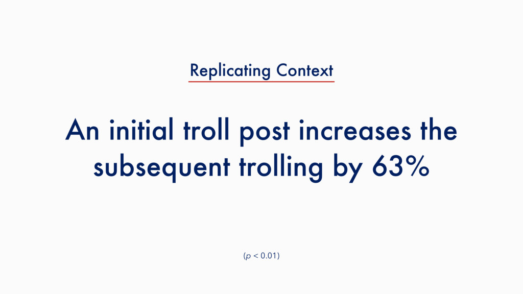 An initial troll post increases the subsequent ...