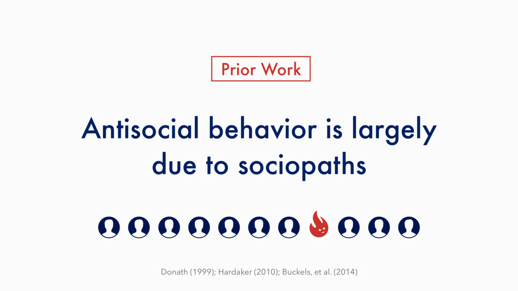 Antisocial behavior is largely due to sociopath...