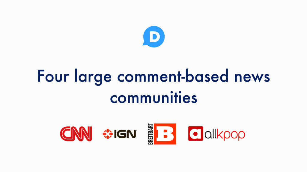 Four large comment-based news communities