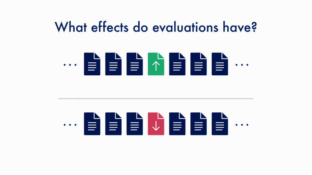 What effects do evaluations have? … … … …