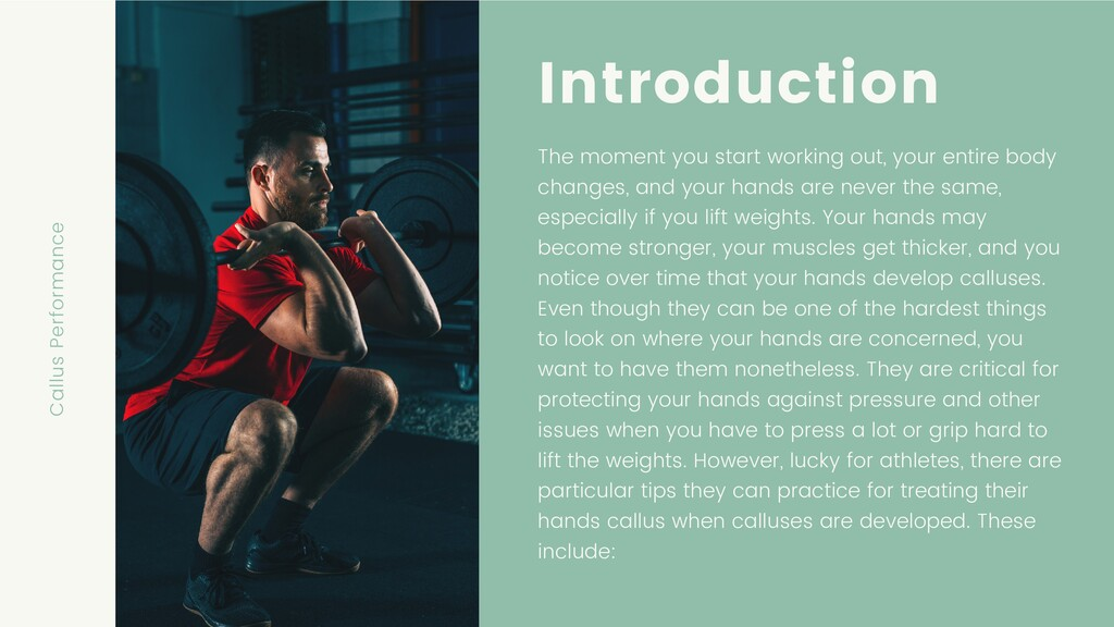 Introduction The moment you start working out, ...