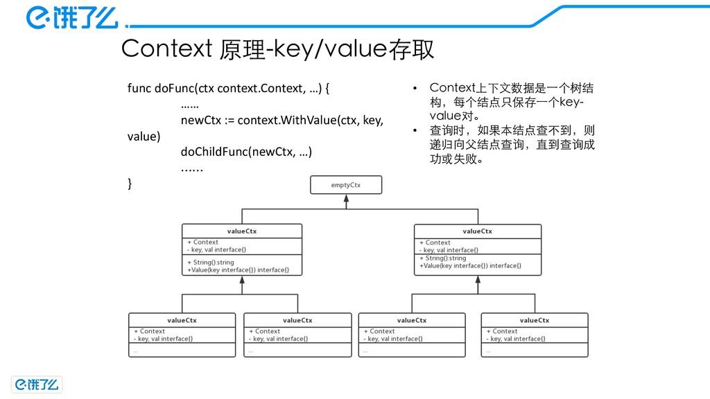 Context 原理-key/value存取 func doFunc(ctx context....