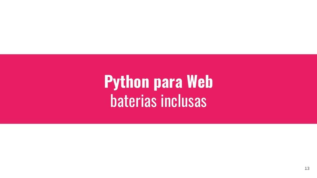 Python para Web baterias inclusas 13