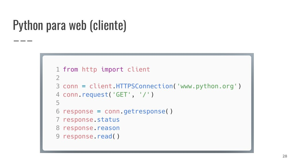Python para web (cliente) 28