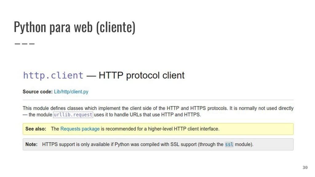 Python para web (cliente) 30