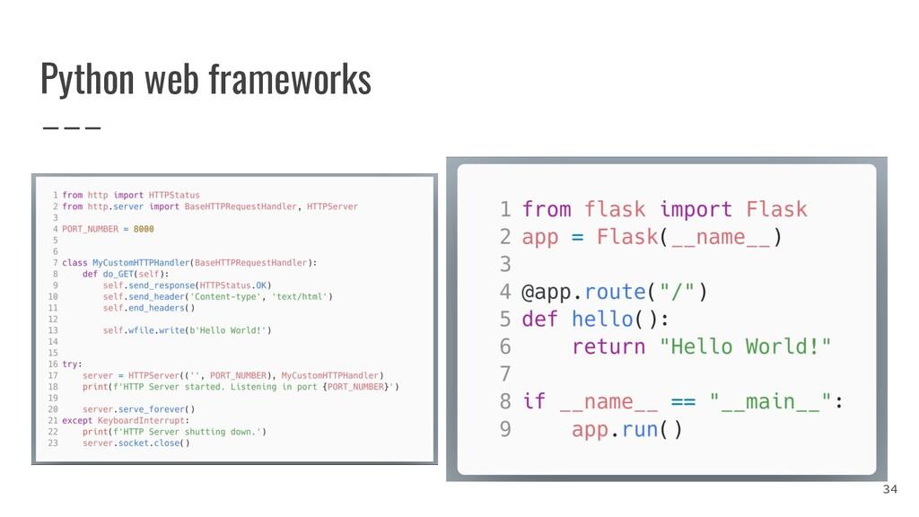 Python web frameworks 34