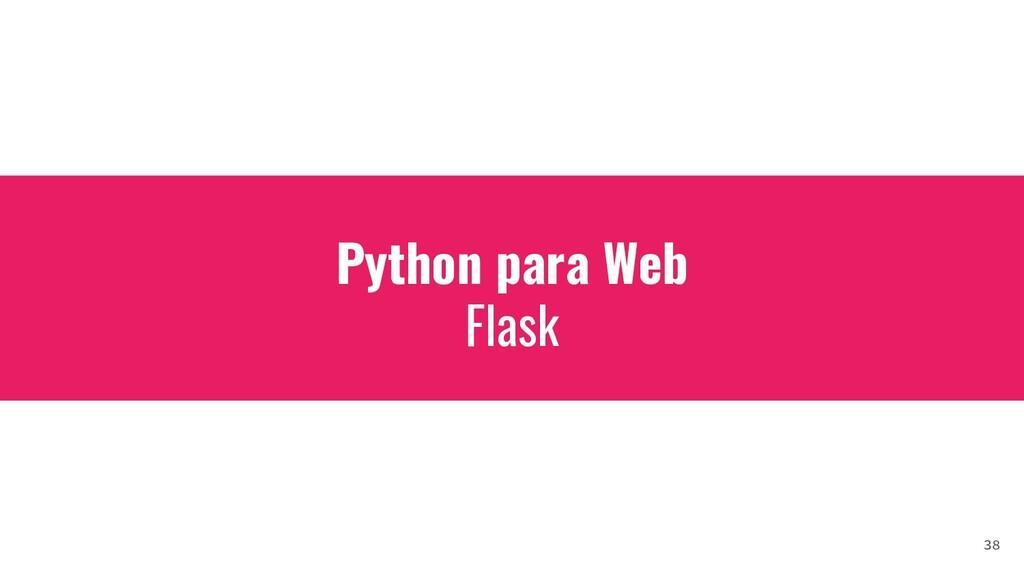 Python para Web Flask 38