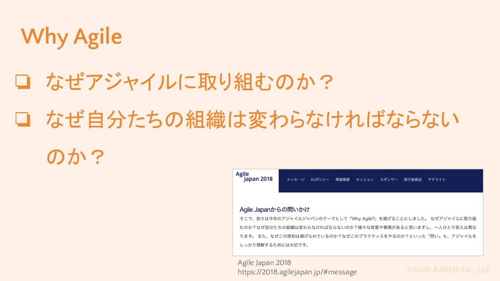 ©2020 RAKUS Co., Ltd. Why Agile ❏ なぜアジャイルに取り組むの...