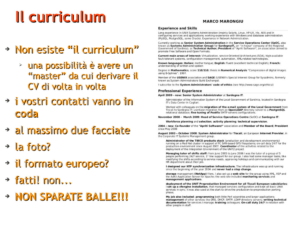 "Il curriculum Il curriculum ➔ Non esiste ""il cu..."