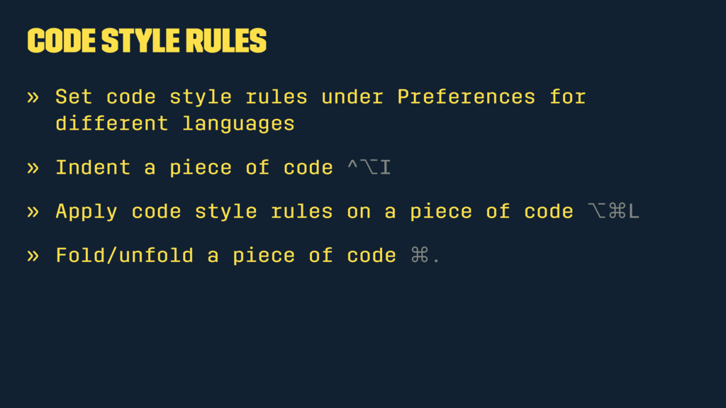 Code Style Rules » Set code style rules under P...
