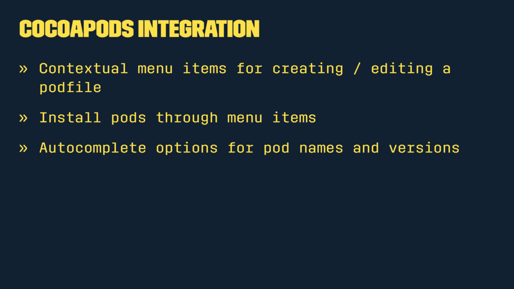 Cocoapods Integration » Contextual menu items f...