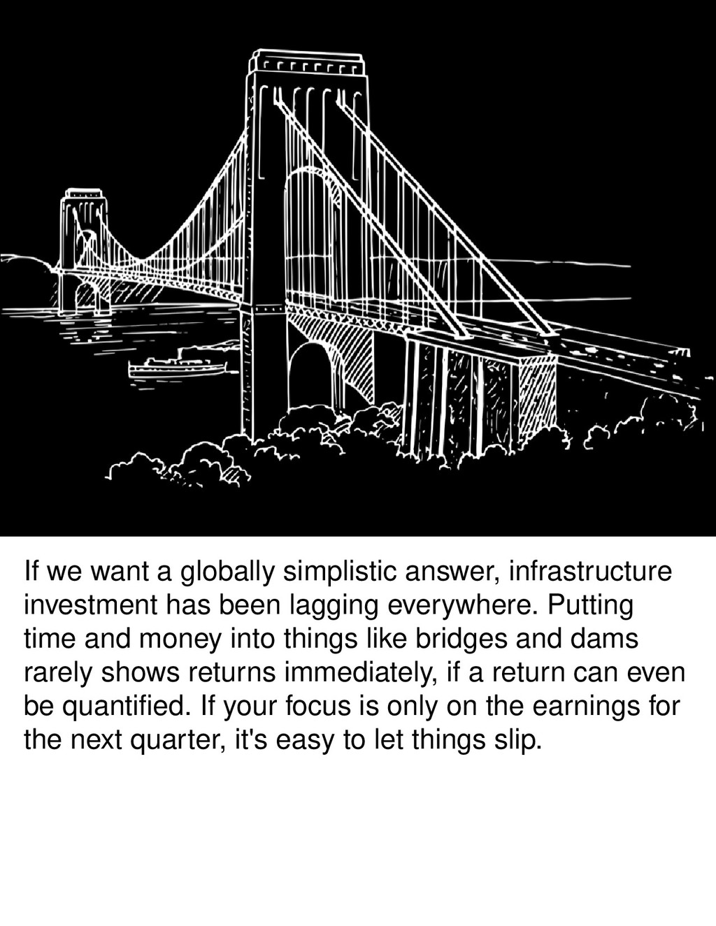 If we want a globally simplistic answer, infras...