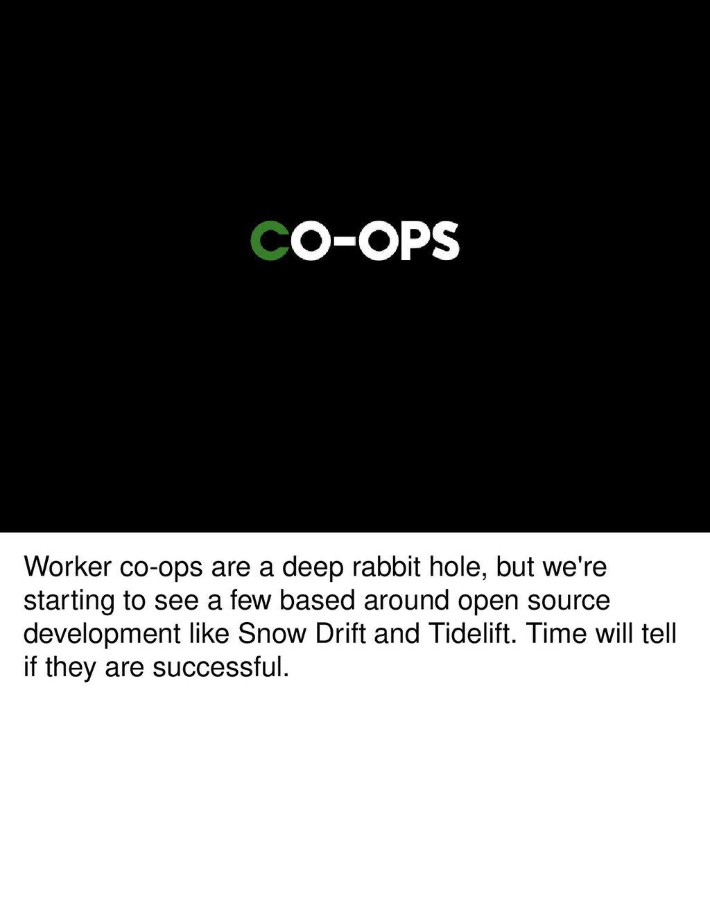 Worker co-ops are a deep rabbit hole, but we're...