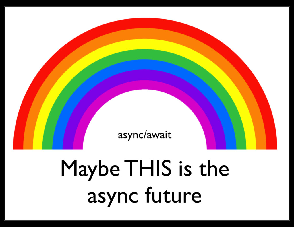 async/await Maybe THIS is the async future